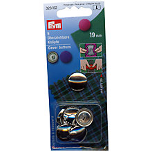 Buy Prym Metal Cover Buttons, 19mm, Pack of 5 Online at johnlewis.com