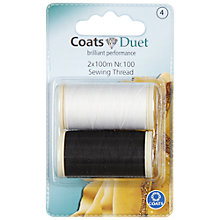 Buy Coats Cotton Thread, 2x 100m, Nr.100 Online at johnlewis.com