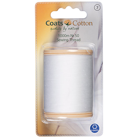 Buy Coats Cotton Sewing Thread, 1000m, Nr.50, White Online at johnlewis.com