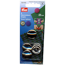 Buy Prym Metal Cover Buttons, 23mm, Pack of 4 Online at johnlewis.com