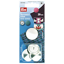 Buy Prym Metal Cover Buttons, 29mm, Pack of 3 Online at johnlewis.com