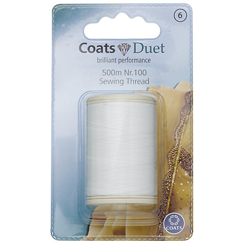Buy Coats Duet Sewing Thread, 500m, Nr.100 Online at johnlewis.com