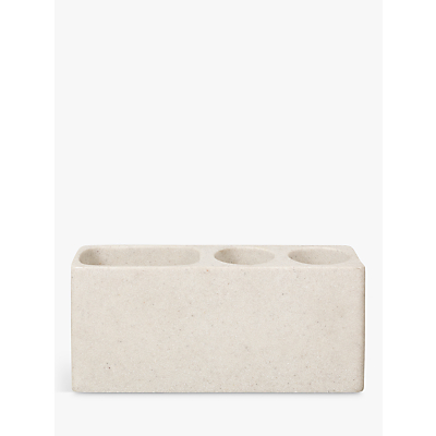 John Lewis Dune Electric Toothbrush Holder, Sandstone