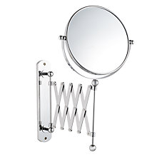 Buy John Lewis Bathroom Extendable Magnifying Wall Mirror Online at johnlewis.com