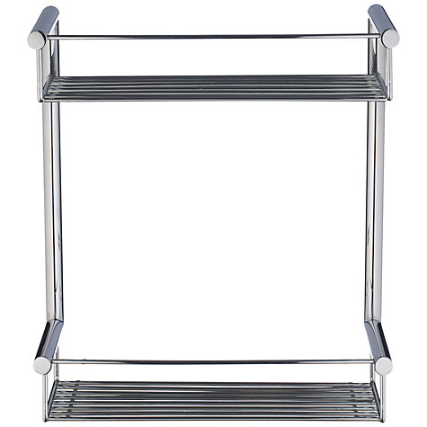 Buy John Lewis Infinity Chrome Plated Brass Double 2 Tier Shower Basket Online at johnlewis.com