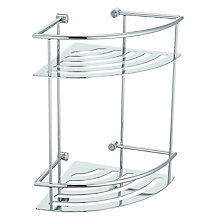 Buy John Lewis Contemporary 2 Tier Corner Shower Basket Online at johnlewis.com