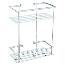 Buy John Lewis Contemporary Rectangular 2 Tier Shower Shelf Online at johnlewis.com