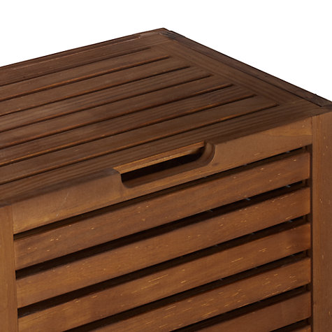 Buy John Lewis Jakarta Bathroom Laundry Bin, Brown Online at johnlewis.com