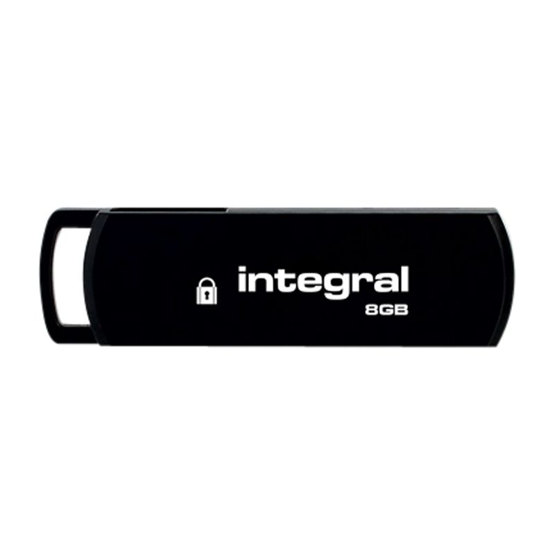 Integral Secure Encrypted Usb Flash Drive, 8gb
