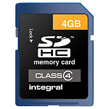 Buy Integral SDHC Class 4 Memory Card, 4GB Online at johnlewis.com