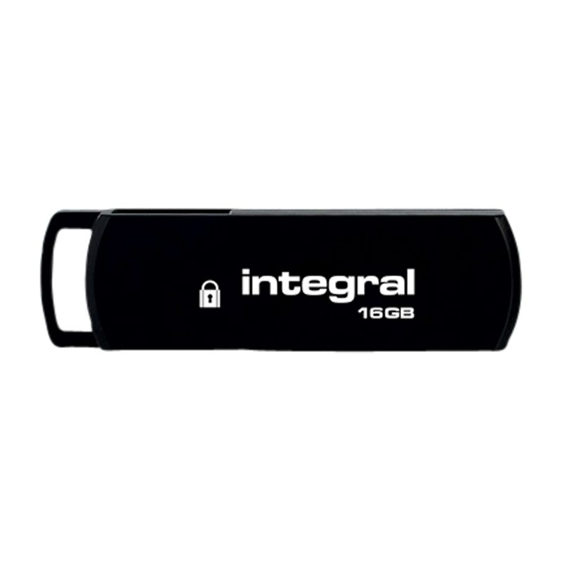 Integral Secure Encrypted Usb Flash Drive, 16gb