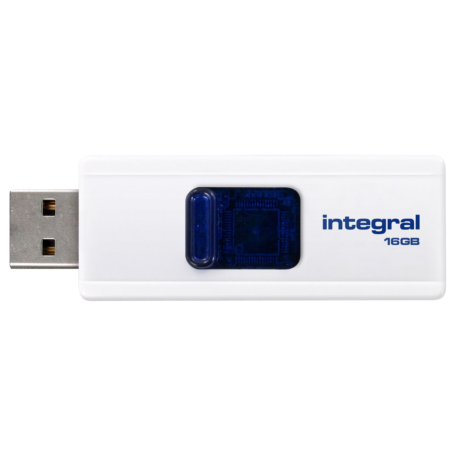 Integral Slide Usb Flash Drive, 16gb