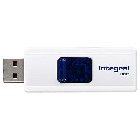 Buy Integral Slide USB 2.0 Flash Drive, 8GB Online at johnlewis.com
