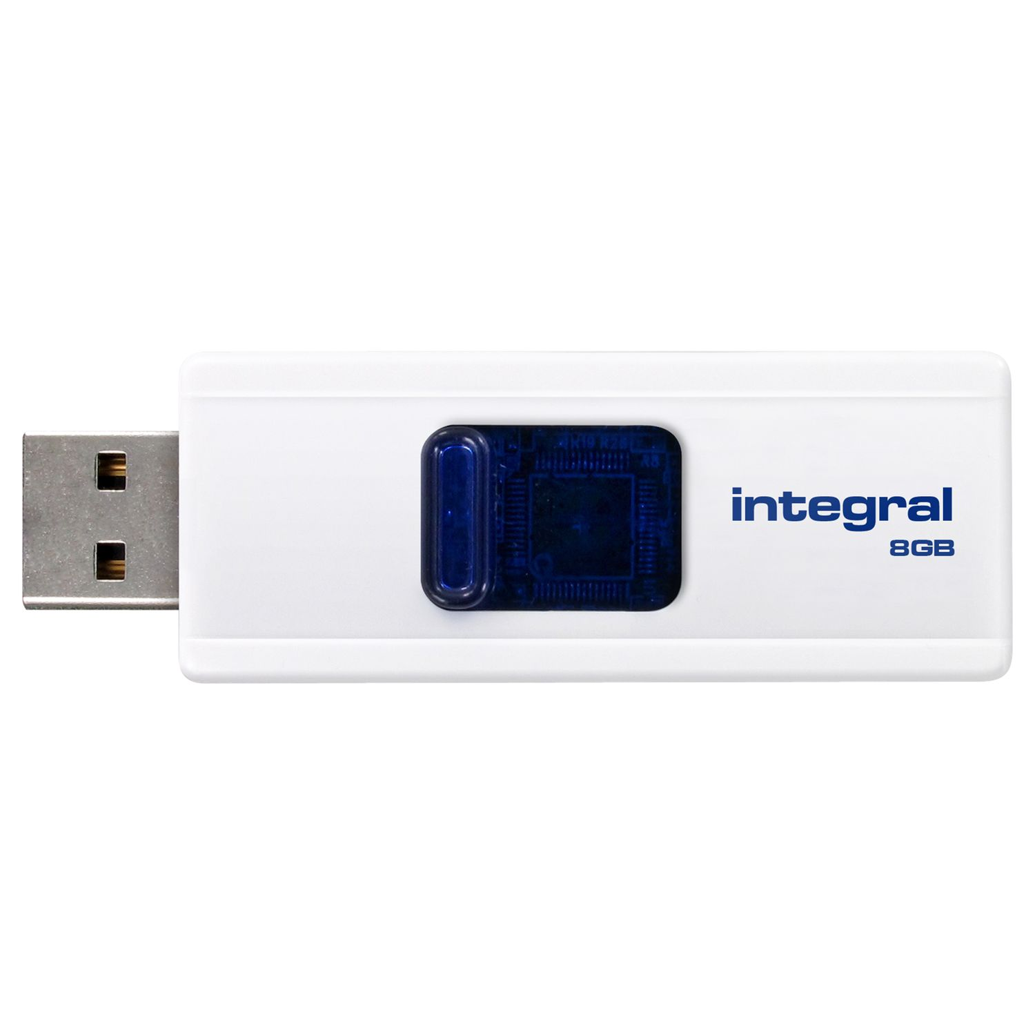 Integral Slide Usb Flash Drive, 8gb
