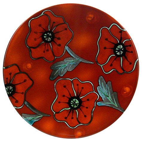 Buy Poole Pottery Poppyfield Plaque, Dia.25cm Online at johnlewis.com