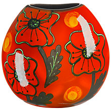 Buy Poole Pottery Poppyfield Purse Vase, H20cm Online at johnlewis.com