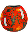 Poole Poppyfield Purse Vase, H20cm