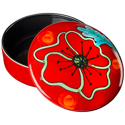 Image of Poole Pottery Poppyfield Trinket Box, Dia.14cm