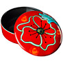Poole Poppyfield Trinket Box, Dia.14cm