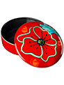 Poole Pottery Poppyfield Trinket Box, Dia.14cm