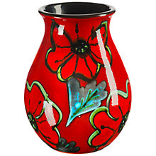 Buy Poole Pottery Poppyfield Venetian Posy Vase, H16cm Online at johnlewis.com