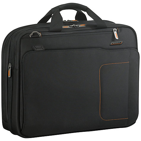 "Buy Briggs & Riley Amplify Expandable 16"" Laptop Briefcase, Black Online at johnlewis.com"
