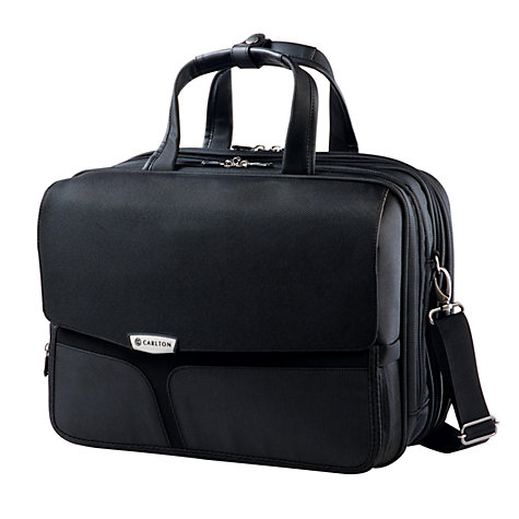 "Buy Carlton Cell 15.4"" Laptop Folio Shoulder Bag, Black Online at johnlewis.com"