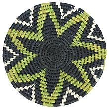 Buy Gone Rural Woven Grass Design Trivets, Set of 2, Black/Lime Online at johnlewis.com