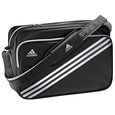 Buy Adidas Enamel 3 Stripes Bag, Black/Silver Online at johnlewis.com