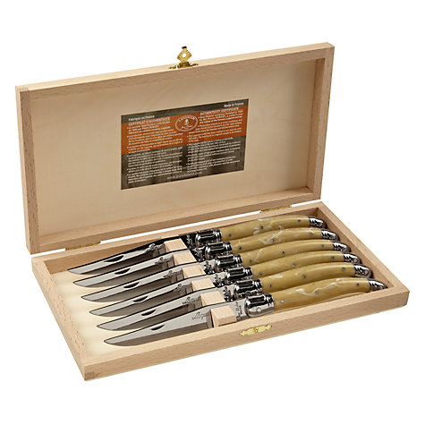 Buy Laguiole Steak Knives, Set of 6, Cream Online at johnlewis.com