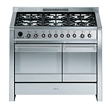 Buy Smeg A2-8 Dual Fuel Range Cooker, Stainless Steel Online at johnlewis.com