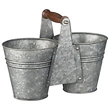 Buy John Lewis Galvanised Condiment Holder Online at johnlewis.com