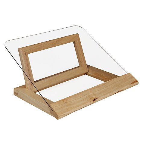 Buy John Lewis Hevea/Acrylic Cookbook Stand Online at johnlewis.com