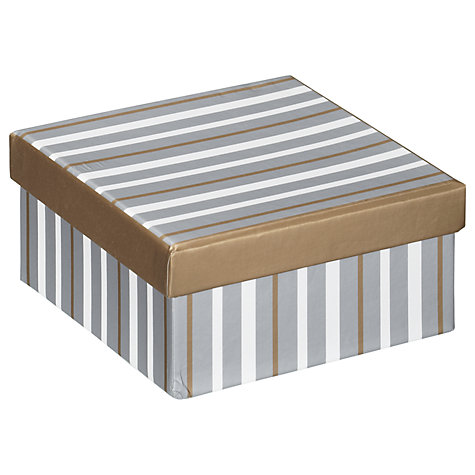 Buy John Lewis Metallic Stripe Gift Box, Mini Online at johnlewis.com