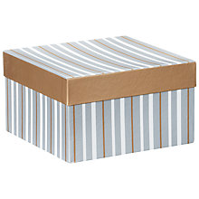 Buy John Lewis Metallic Stripe Gift Box, Large Online at johnlewis.com