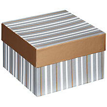 Buy John Lewis Metallic Stripe Gift Box, Small Online at johnlewis.com