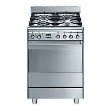 Buy Smeg SUK61PX8 Dual Fuel Cooker, Stainless Steel Online at johnlewis.com