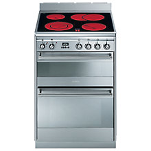 Buy Smeg SUK62CMX8 Electric Cooker, Stainless Steel Online at johnlewis.com