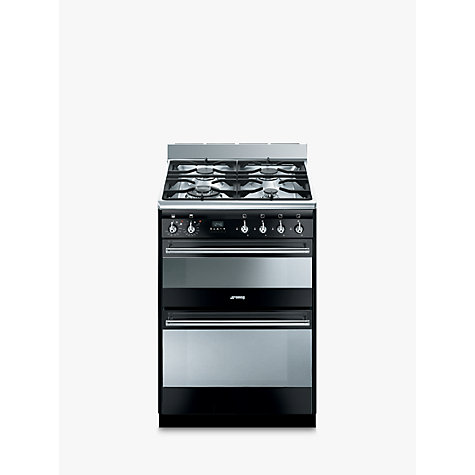 Buy Smeg SUK62MBL8 Dual Fuel Cooker, Black Online at johnlewis.com