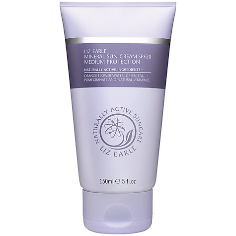 Buy Liz Earle Mineral Suncream SPF20, 150ml Online at johnlewis.com
