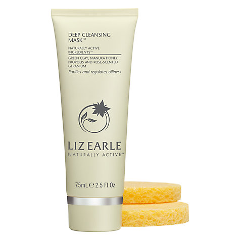 Buy Liz Earle Deep Cleansing Mask™, 75ml with 2 Sponges Online at johnlewis.com