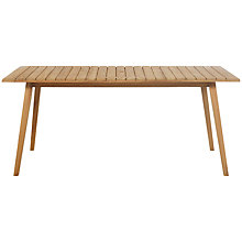 Buy John Lewis Almera Rectangular 6 Seater Outdoor Dining Table, FSC Teak Online at johnlewis.com