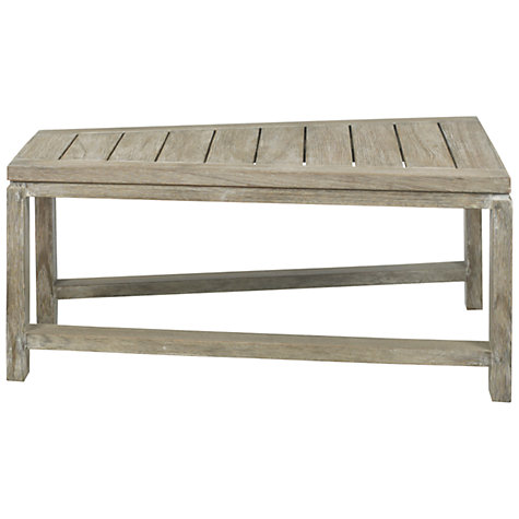 Buy John Lewis Croft Collection Bilbao Rectangular Outdoor Lounging Table, FSC Eucalyptus, 75 x 73cm Online at johnlewis.com