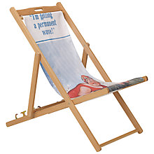 Buy Hemingway Design FSC Deckchair, Permanent Wave Online at johnlewis.com