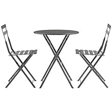 Buy House by John Lewis Soho Round 2 Seater Outdoor Bistro Set, Steel Online at johnlewis.com