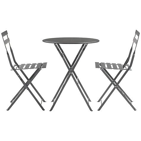 Buy House by John Lewis Soho Round 2 Seater Outdoor Bistro Set Online at johnlewis.com