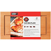 Buy Weber FSC Wood Barbecue Plank Online at johnlewis.com
