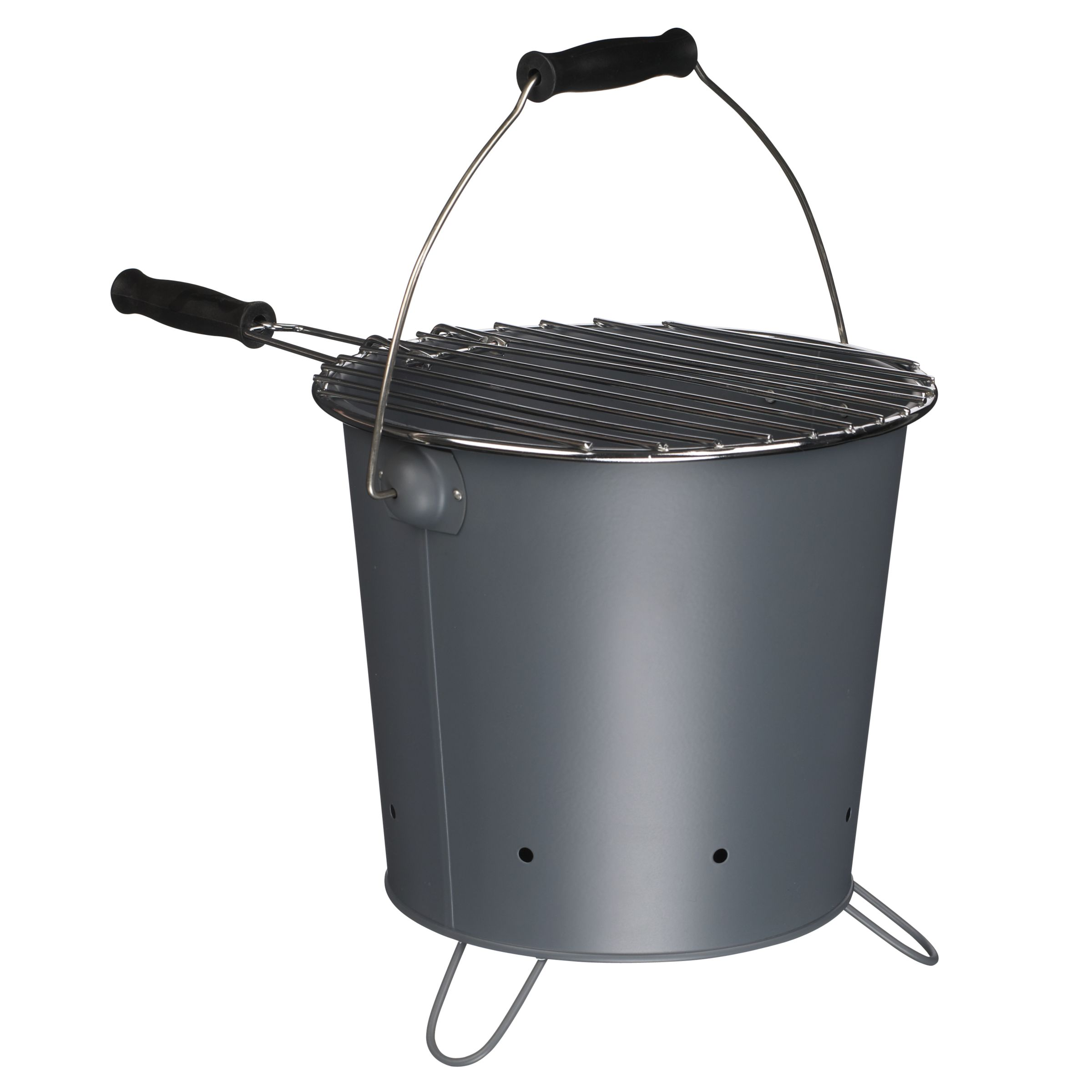 John Lewis Barbecue Bucket, Steel Grey