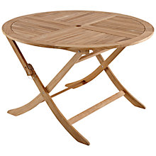 Buy John Lewis Leckford Round 4 Seater Outdoor Dining Table, FSC Teak Online at johnlewis.com