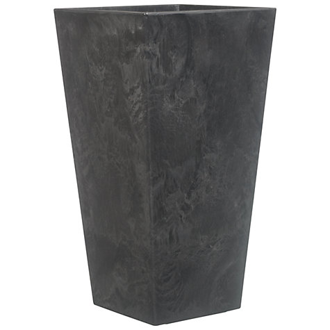 Buy Artstone Ella Vase Planter, Black Online at johnlewis.com